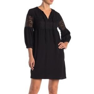 ABS Collection Black Lace Insert Dress Size M